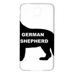 German Shepherd Name Silo Samsung Galaxy S5 Back Case (White)