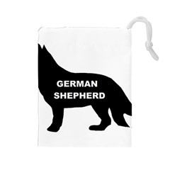 German Shepherd Name Silo Drawstring Pouches (Large)