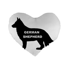 German Shepherd Name Silo Standard 16  Premium Flano Heart Shape Cushions