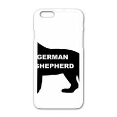 German Shepherd Name Silo Apple iPhone 6/6S White Enamel Case