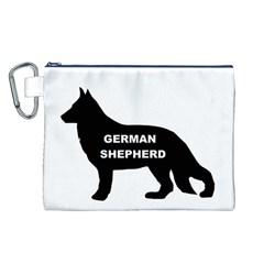 German Shepherd Name Silo Canvas Cosmetic Bag (L)