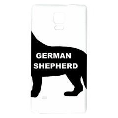 German Shepherd Name Silo Galaxy Note 4 Back Case