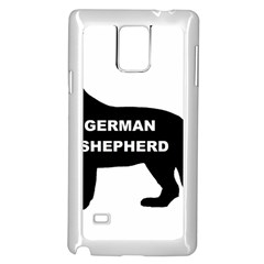 German Shepherd Name Silo Samsung Galaxy Note 4 Case (White)