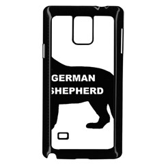 German Shepherd Name Silo Samsung Galaxy Note 4 Case (Black)