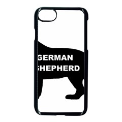 German Shepherd Name Silo Apple iPhone 7 Seamless Case (Black)