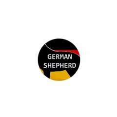 German Shepherd Name Silhouette On Flag Black 1  Mini Buttons