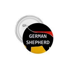 German Shepherd Name Silhouette On Flag Black 1.75  Buttons