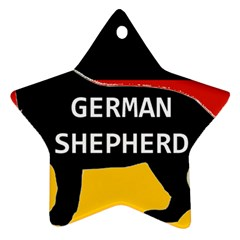 German Shepherd Name Silhouette On Flag Black Ornament (Star)