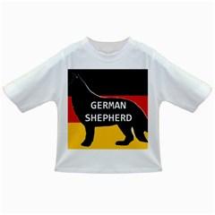 German Shepherd Name Silhouette On Flag Black Infant/Toddler T-Shirts