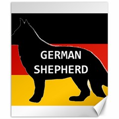 German Shepherd Name Silhouette On Flag Black Canvas 8  x 10