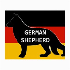 German Shepherd Name Silhouette On Flag Black Small Glasses Cloth (2-Side)