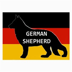 German Shepherd Name Silhouette On Flag Black Large Glasses Cloth (2-Side)