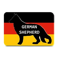 German Shepherd Name Silhouette On Flag Black Plate Mats