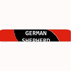 German Shepherd Name Silhouette On Flag Black Small Bar Mats