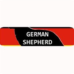 German Shepherd Name Silhouette On Flag Black Large Bar Mats