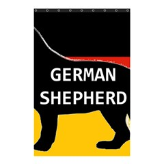German Shepherd Name Silhouette On Flag Black Shower Curtain 48  x 72  (Small)