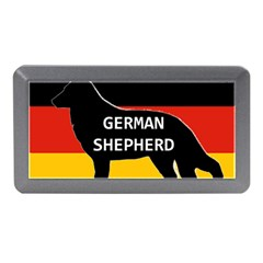 German Shepherd Name Silhouette On Flag Black Memory Card Reader (Mini)