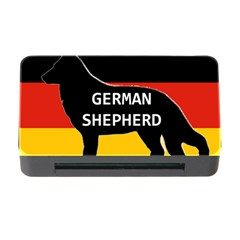German Shepherd Name Silhouette On Flag Black Memory Card Reader with CF