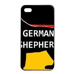 German Shepherd Name Silhouette On Flag Black Apple iPhone 4/4s Seamless Case (Black)