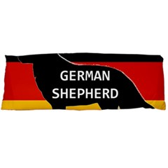 German Shepherd Name Silhouette On Flag Black Body Pillow Case Dakimakura (Two Sides)