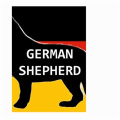German Shepherd Name Silhouette On Flag Black Large Garden Flag (Two Sides)