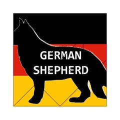 German Shepherd Name Silhouette On Flag Black Acrylic Tangram Puzzle (6  x 6 )