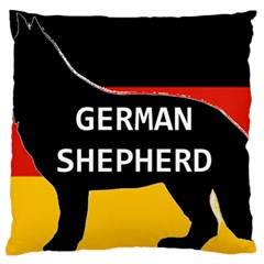 German Shepherd Name Silhouette On Flag Black Large Cushion Case (One Side)