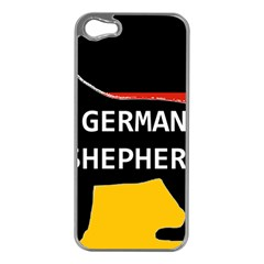 German Shepherd Name Silhouette On Flag Black Apple iPhone 5 Case (Silver)
