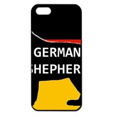 German Shepherd Name Silhouette On Flag Black Apple iPhone 5 Seamless Case (Black)