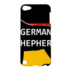 German Shepherd Name Silhouette On Flag Black Apple iPod Touch 5 Hardshell Case