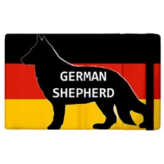German Shepherd Name Silhouette On Flag Black Apple iPad 3/4 Flip Case