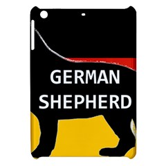 German Shepherd Name Silhouette On Flag Black Apple iPad Mini Hardshell Case