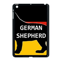 German Shepherd Name Silhouette On Flag Black Apple iPad Mini Case (Black)
