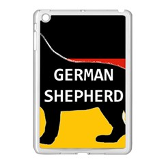 German Shepherd Name Silhouette On Flag Black Apple iPad Mini Case (White)