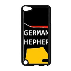 German Shepherd Name Silhouette On Flag Black Apple iPod Touch 5 Case (Black)