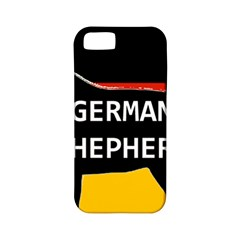 German Shepherd Name Silhouette On Flag Black Apple iPhone 5 Classic Hardshell Case (PC+Silicone)