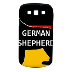 German Shepherd Name Silhouette On Flag Black Samsung Galaxy S III Classic Hardshell Case (PC+Silicone)