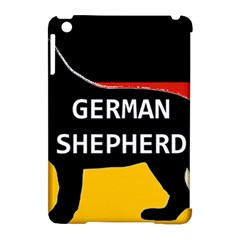German Shepherd Name Silhouette On Flag Black Apple iPad Mini Hardshell Case (Compatible with Smart Cover)