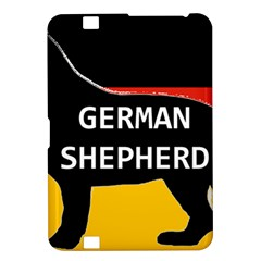 German Shepherd Name Silhouette On Flag Black Kindle Fire HD 8.9
