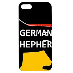 German Shepherd Name Silhouette On Flag Black Apple iPhone 5 Hardshell Case with Stand