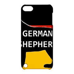German Shepherd Name Silhouette On Flag Black Apple iPod Touch 5 Hardshell Case with Stand