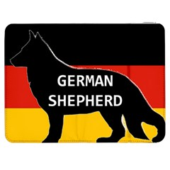 German Shepherd Name Silhouette On Flag Black Samsung Galaxy Tab 7  P1000 Flip Case