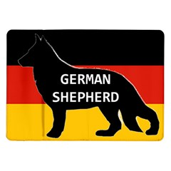 German Shepherd Name Silhouette On Flag Black Samsung Galaxy Tab 10.1  P7500 Flip Case