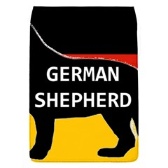 German Shepherd Name Silhouette On Flag Black Flap Covers (S)