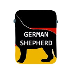 German Shepherd Name Silhouette On Flag Black Apple iPad 2/3/4 Protective Soft Cases