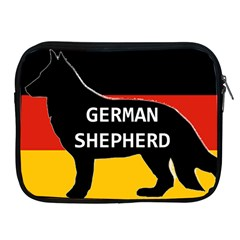 German Shepherd Name Silhouette On Flag Black Apple iPad 2/3/4 Zipper Cases