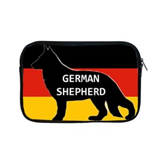 German Shepherd Name Silhouette On Flag Black Apple iPad Mini Zipper Cases