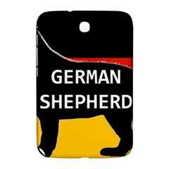German Shepherd Name Silhouette On Flag Black Samsung Galaxy Note 8.0 N5100 Hardshell Case