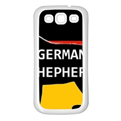 German Shepherd Name Silhouette On Flag Black Samsung Galaxy S3 Back Case (White)