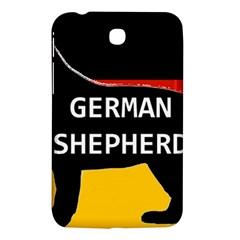 German Shepherd Name Silhouette On Flag Black Samsung Galaxy Tab 3 (7 ) P3200 Hardshell Case